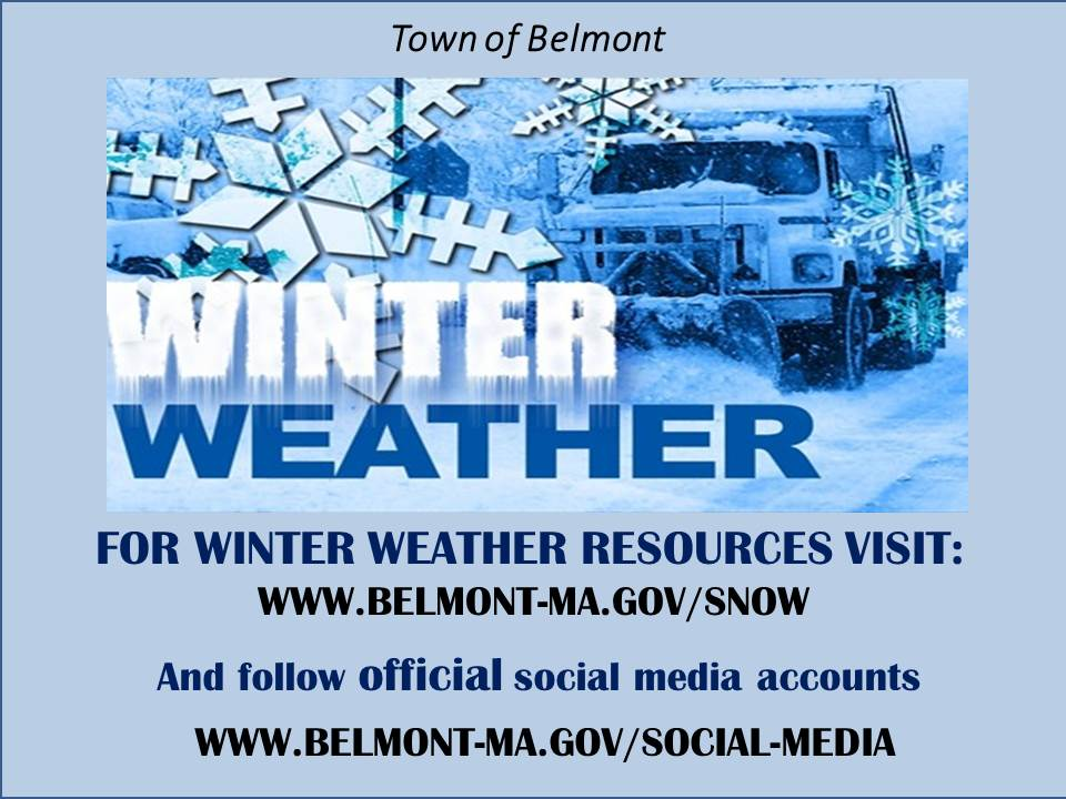 Winter Weather Updates from the Town of Belmont